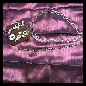 Accessories - Women's Chrome Infinity Chain Link Belt